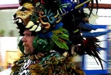The Maya King Costume / As part of our school visits we created a Maya king costume.  Here is it worn by school teachers and principals all over the country
