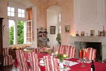 Une table savoureuse dans un cadre chaleureux et convivial / Après l'apéritif nos hôtes vont s'asseoir autour de la grande Table d'hôtes pour savourer un dîner aux chandelles préparé par Marie-Andrée et basé autant que possible avec les produits bio du jardin