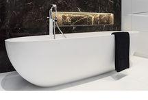 salle de bains bathroom / pureté des lignes et beauté des matériaux