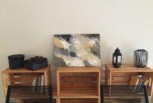 Soyut resim tablo. Abstract painting / Renklerin uyumuyla duvarlarinizi doldurun. Akrilik boya ile tuval. Mobilya renklerine uygun secimler. Soyut resim sanati.