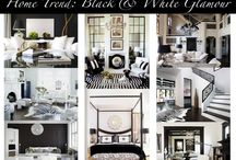 Black and White  / The classic black and white decorating style is timeless