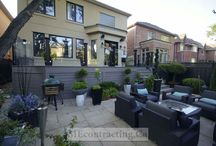 Complete Landscaping Project With PVC Deck and Glass Railings