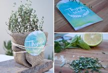 Basil stickers & labels