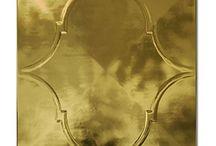 ZŁOTO I SREBRO / Oryginalne płytki podłogowe i ścienne - złote i srebrne.