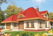 Casa cu mansarda pe structura metalica usoara