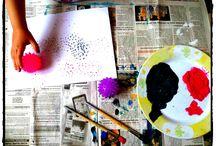 Techniques d'arts visuels / faire de la peinture - les différentes techniques
