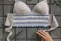 crochet bikiny and top