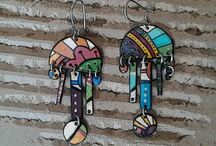 Colorful boho jewels / Handmade colourful summer necklaces, earrings, brooches and rings.