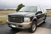 Used 2003 Ford Excursion for Sale ($13,900) at Monument, CO / Make:  Ford, Model:  Excursion, Year:  2003, Exterior Color: Green, Interior Color: Tan, Doors: Four Door,  Vehicle Condition: Excellent, Mileage:213,000 mi, Fuel: Diesel, Transmission: Automatic.   Contact; 719-694-5310   Car Id (56709)