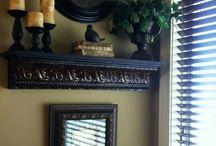 Shelves and Mantel Decor
