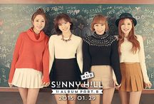 """Sunny Hill / Sunny Hill (Hangul: 써니힐) is a South Korean girl group. The members consist of Misung, Jubee, Seung Ah and Kota. From 2007–2011, fans of Sunny Hill were known as """"Sunshines"""". Following their rise in popularity, fans voted and had the name officially changed to """"Hiller"""" (stylized as HːLLЁR)."""