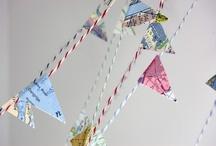 hanging by a string / i love the look of banners- pennant shape, hearts, hanging lanterns, you name it!