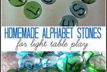 Home Ed ~ Light table ideas