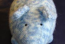 Peluches et doudou tricot / Peluche, ourson, Doudou au tricot