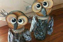 animali legno