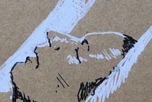 my work Sleeping #secret #sketch #sketchbook #ink #portrait #France