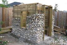 Faire mur en pierre autour d un abrit bois