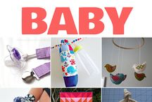 sewing project ideas for babies, kids, an adults.