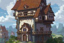 buildings/landscapes l