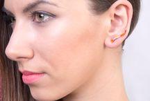 Largentolab Silver Enamel Earrings / Enamel earrings, silver and enamel, color earrings, sterling silver, enamel jewelry, handmade, fun, cute, stud earrings, ear pins, comfortable, ear studs, post earrings, everyday jewelry, gift for her, girl earrings, enamel studs, handcrafted