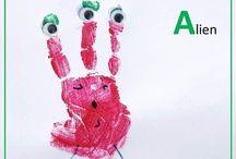 Hand Print Alphabet