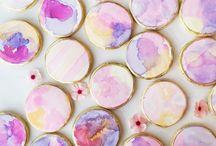 Watercolor on Cookies!!