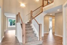 |Handrails| Design Inspiration / Handrails can be an expensive feature but what an amazing feature they are.... one of the best ways to open up a home. From clear glass to exotic woods your handrail can be a million things...