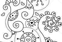 doodle art and fun @ mandala @ coloring book