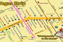 """Las Vegas Maps / Las Vegas Strip maps showing hotels and casinos. There are over 30 hotels on The Las Vegas Strip, officially named """"Las Vegas Boulevard"""" which is nearly 5 miles long. More At: www.VegasPartyPools.com"""