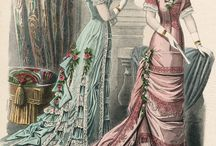 1870's Eveningdresses