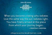 "Deepak Chopra / ""Together we can help create a peaceful, just, sustainable and healthy world.""  Deepak Chopra"