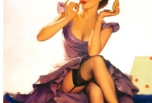 Vintage pin up pose
