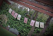 Névre szóló girlandok esküvőre - webáruház / Egyedi névre szóló füzérek esküvőre, melyek itt vásárolhatók meg: http://www.oltarelott.hu/eskuvoi-webaruhaz/nevre-szolo-girland-eskuvore