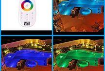 Promoção Outubro 2014 / Neste mês você compra sua Sólazer piscinas com leds prime coloridos e ganha de presente p controle remoto TOUCH SCREEN, é o que existe de mais moderno em iluminação de piscinas.