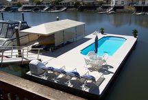 "San Juan Fiberglass Pools ""Floating Pools"" / Water front property ready for swimming pool swimming!"