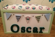 Personalised kids toy box