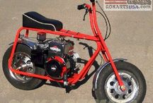 """Road Rocket Mini Bike kit / Road Rocket is our most popular old school minibike. MADE-IN-USA. 8"""" wheels, large 15"""" tires, drum brake and padded seat make this mini bike perfect for the whole family to enjoy.  painting and  assembly required"""