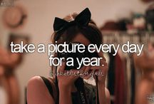 Bucket list / One day it will be done