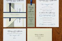 Blue wedding invitations / Blue wedding stationery