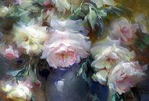 Цветы, живопись
