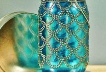 Moroccan glass jars