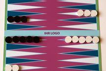 Backgammon individuell mit Ihrem Logo, als Werbegeschenk / Kundengeschenk