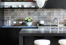 Dark Cabinets - Kitchen