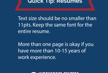 Quick Tips / Tips on job searching, cover letters, resumes, interviewing, follow up...etc.