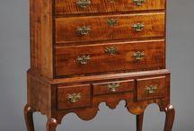 Tiger maple wood furniture