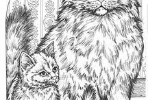 Katten / kleurplaat