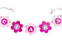 Personalised Garlands / All of the garlands you see on this board have been handmade by ourselves. They are all made of layers of wood, and have been hand-painted or stained. And best of all, they can all be personalised with your child's name for FREE! Just click on the link in the description to purchase one!