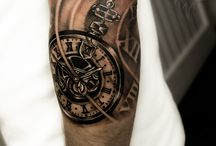Compass & Watch / Kompass & Uhren Tattoos