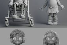 low / high poly models