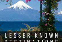 Off the beaten path destinations / less visited, less known destinations